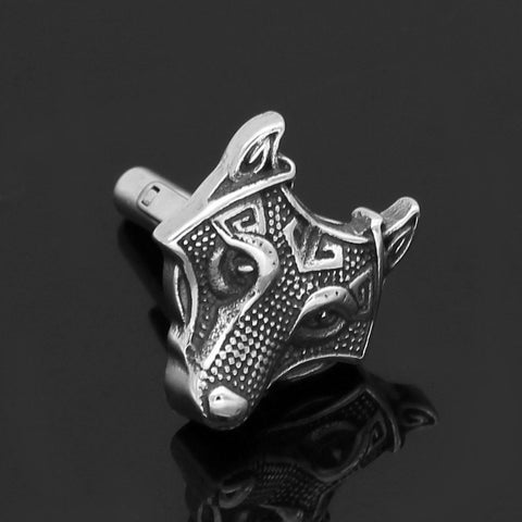Image of Wolf Head Cufflinks