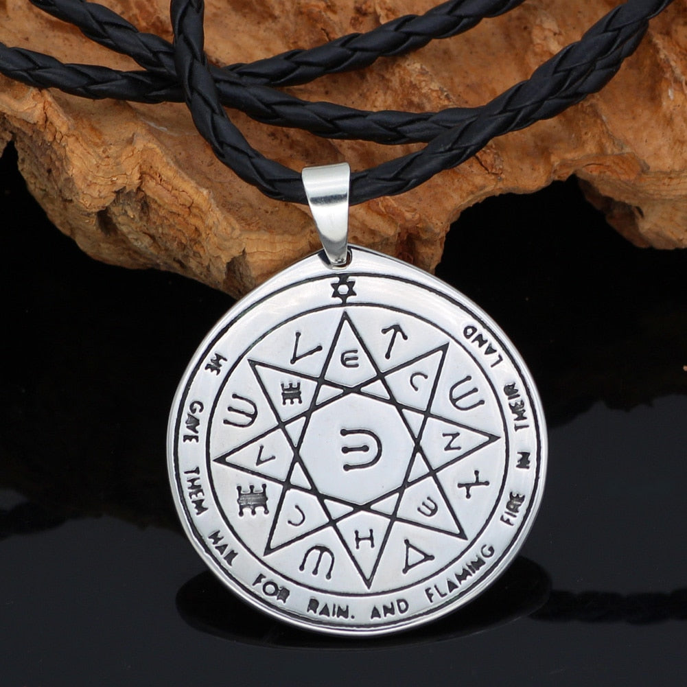 Solomon Seal Wiccan Pagan Hermetic Enochian Kabbalaht necklace
