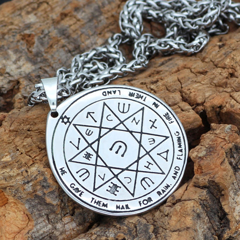 Image of Solomon Seal Wiccan Pagan Hermetic Enochian Kabbalaht necklace