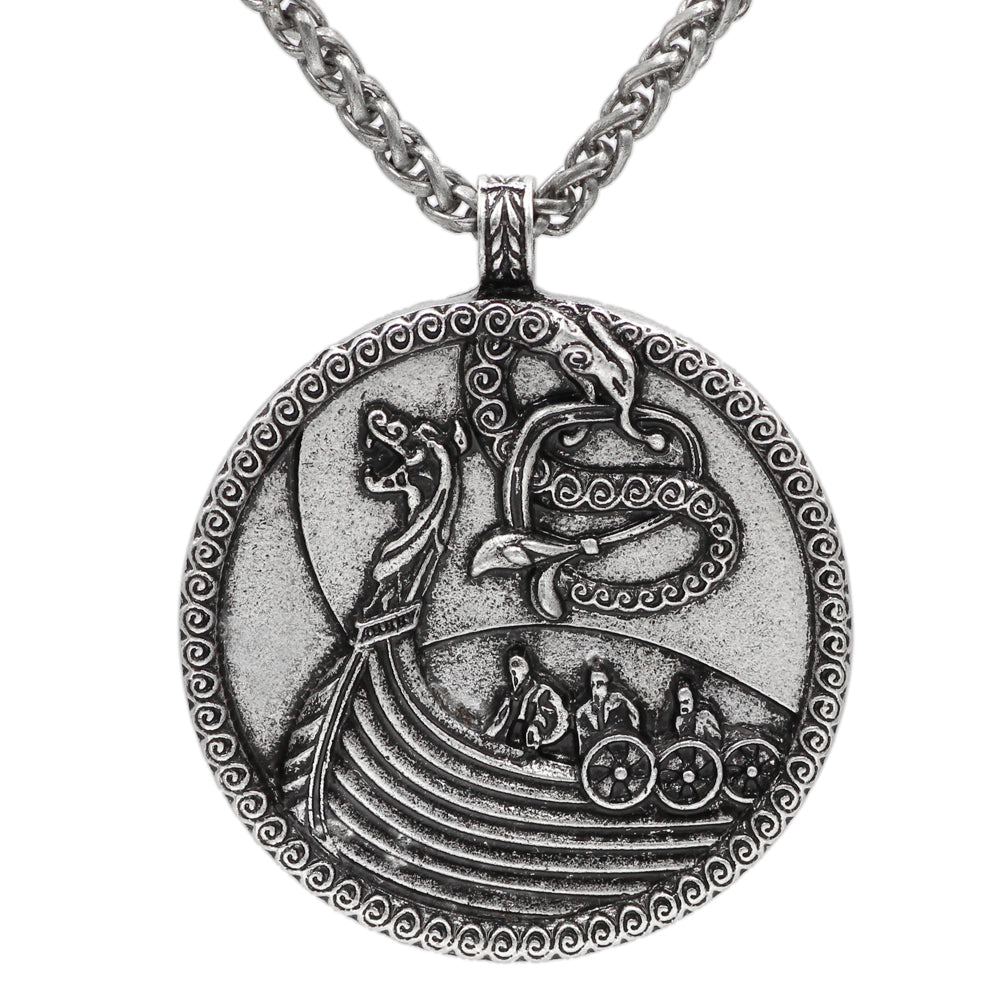 ship dragon pendant necklace