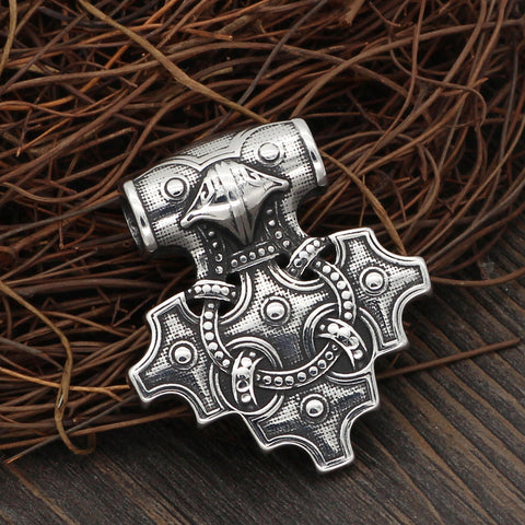 Image of Raven Mjolnir necklace