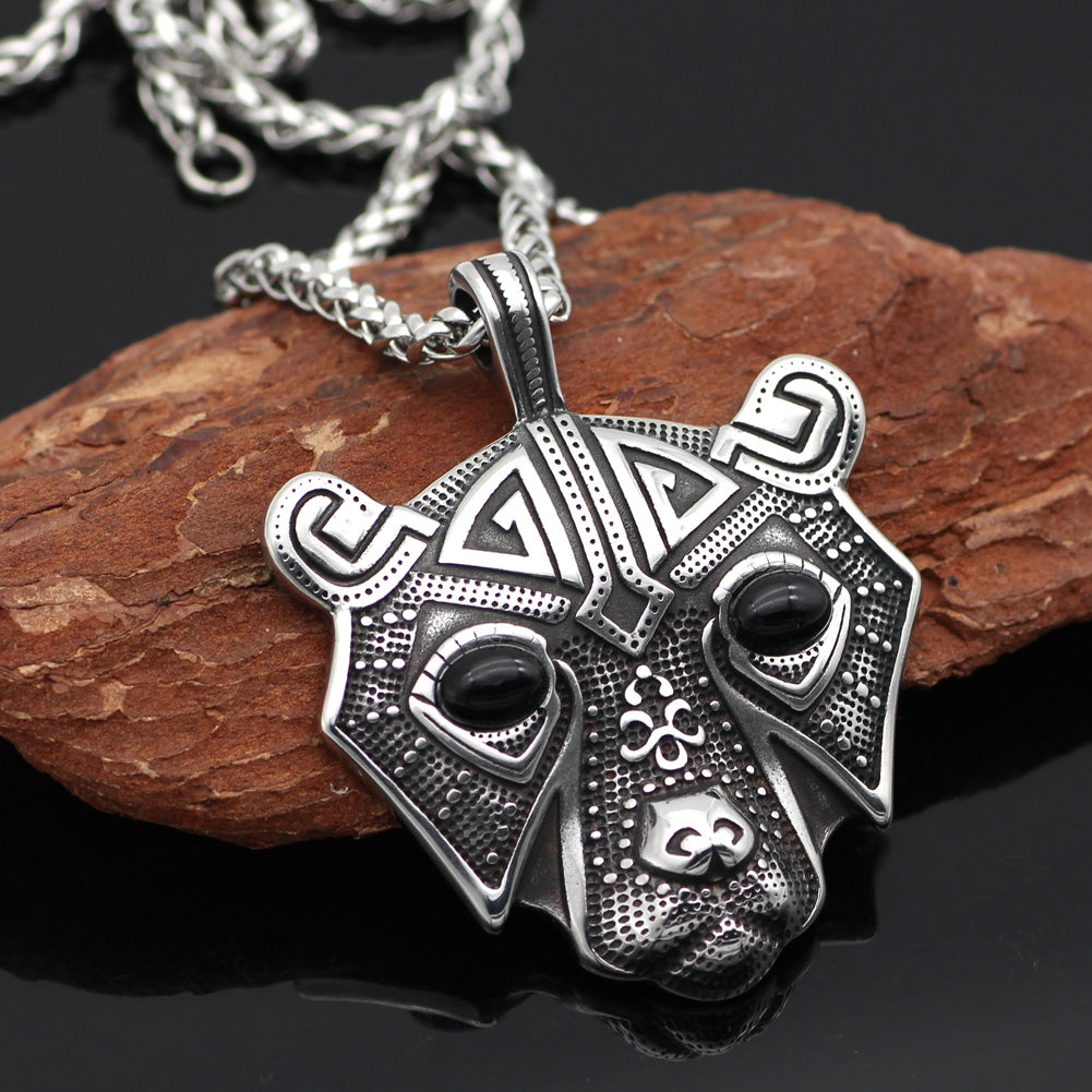 bear head  necklace