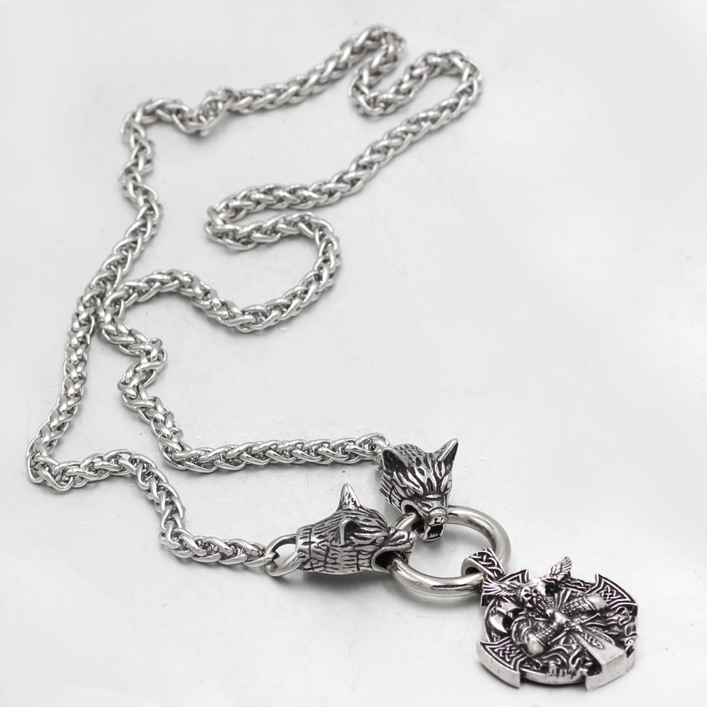 nordic  wolf  Necklace