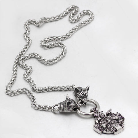 Image of nordic  wolf  Necklace