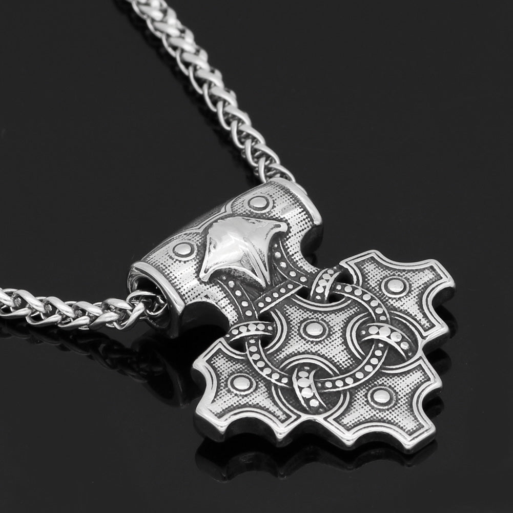 Raven Mjolnir necklace