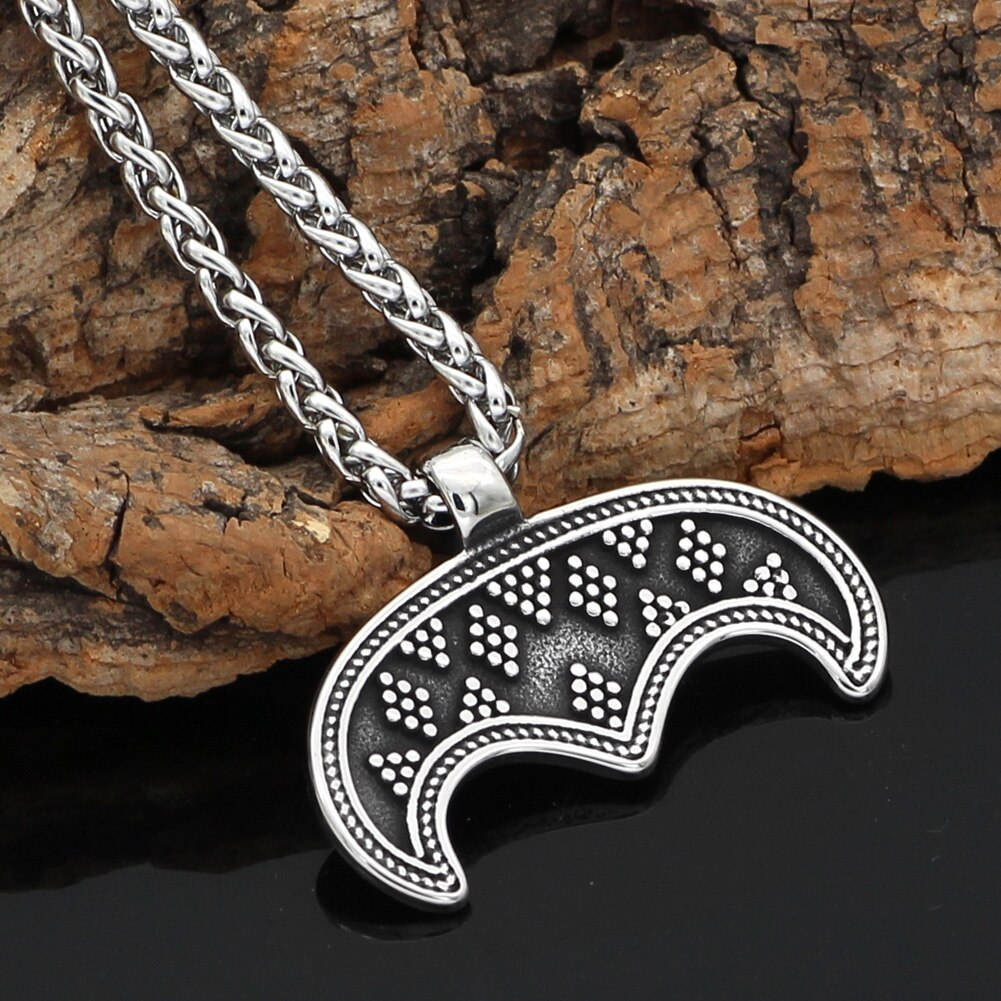 Lunula Moon Necklace - Stainless Steel