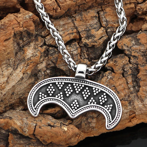 Image of Lunula Moon Necklace - Stainless Steel