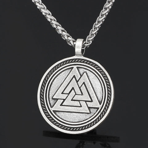 Image of odin face rune necklace