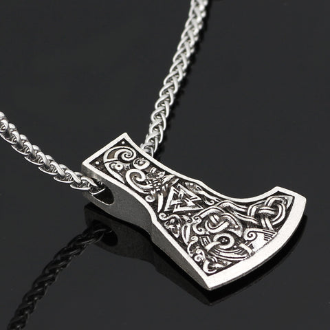 Image of axe  dragon necklace