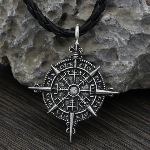 Image of compass talisman necklace jewelry
