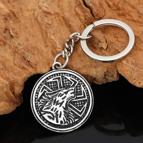 Image of wolf  keychain