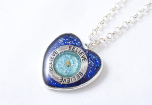 Blue Mustard Seed Necklace - Jenny Bagwill Art