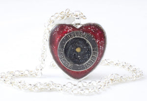 Red & Black Mustard Seed Necklace - Jenny Bagwill Art
