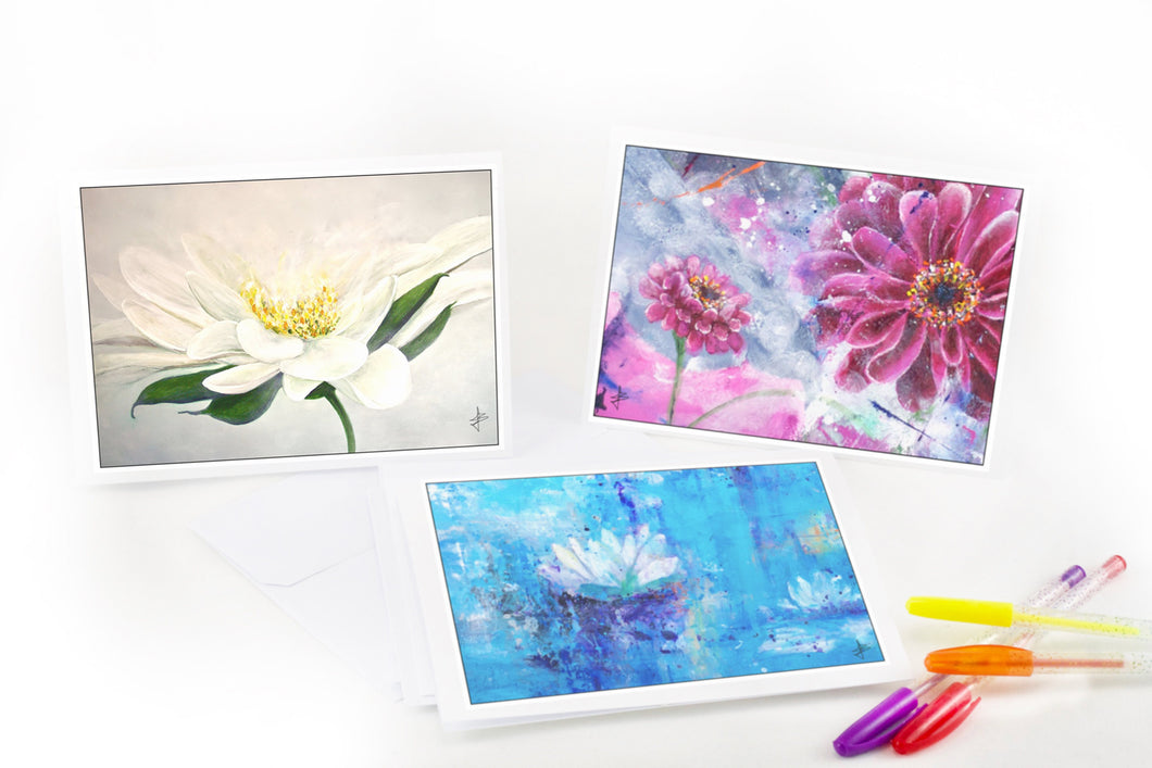 Flower Notecards - Jenny Bagwill Art