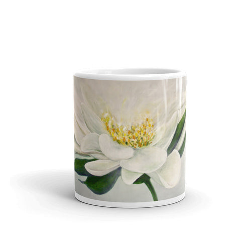 White Flower Mug - Jenny Bagwill Art