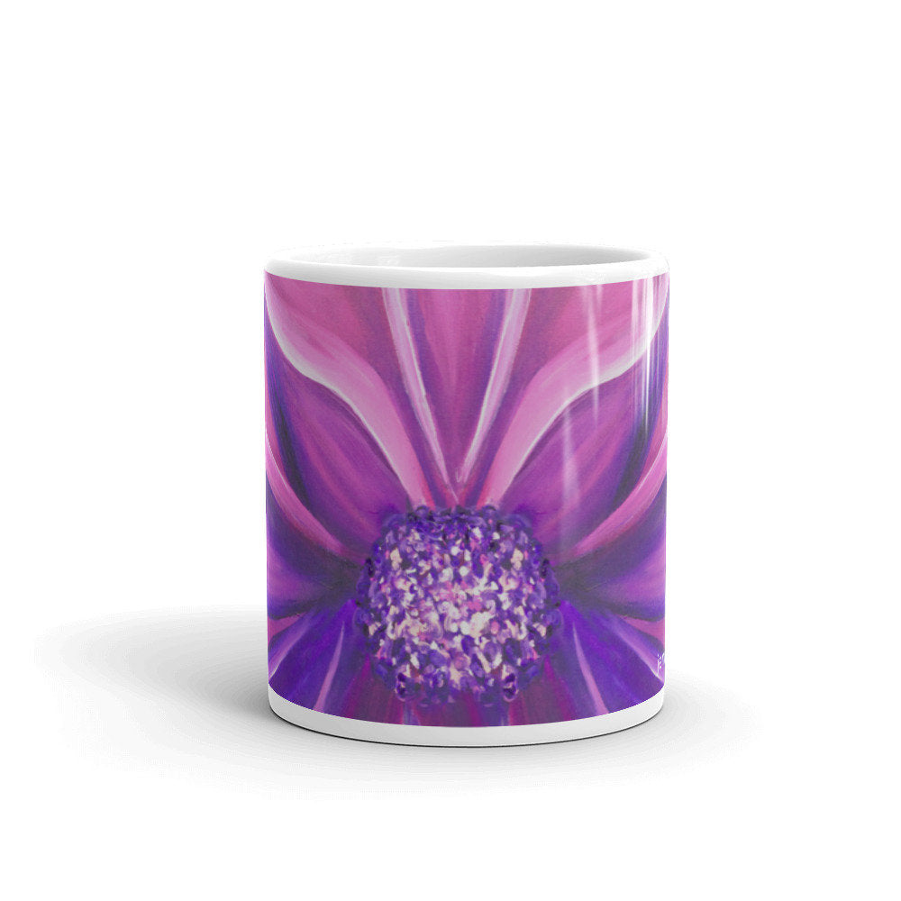 Purple Flower Mug - Jenny Bagwill Art