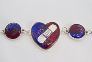 CHD Bandaid Awareness Bracelet - Jenny Bagwill Art