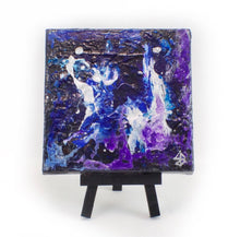 Small Blue & Purple Abstract Art - Jenny Bagwill Art