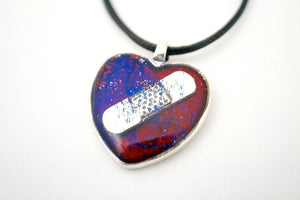 Red & Blue CHD Awareness Necklace - Jenny Bagwill Art