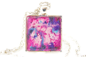 Pink Abstract Art Necklace - Jenny Bagwill Art