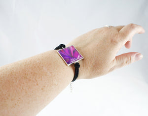 Purple Flower Bracelet - Jenny Bagwill Art