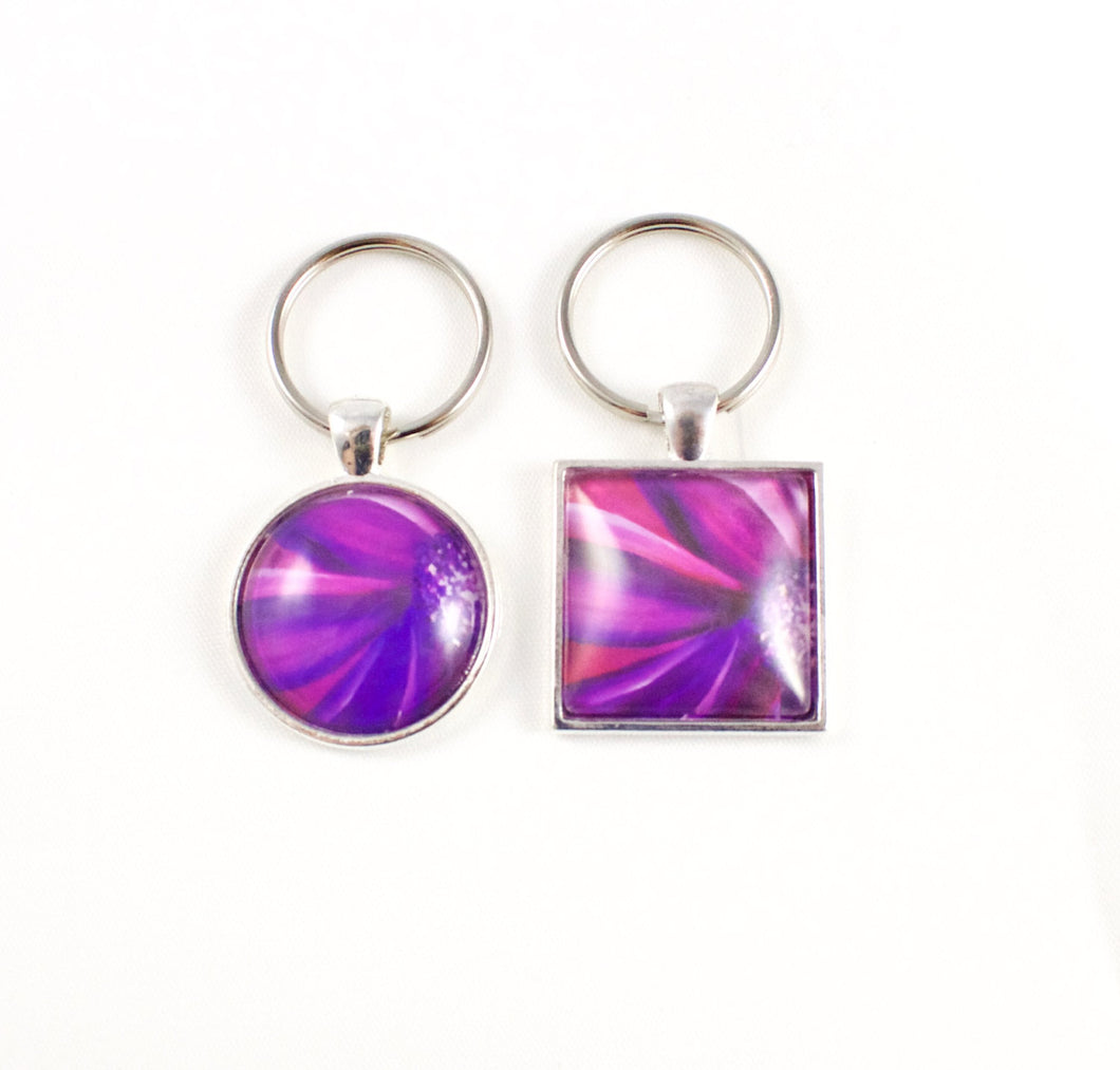 Purple Key Ring - Jenny Bagwill Art