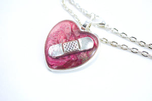 Pink Bandaid Necklace - Jenny Bagwill Art
