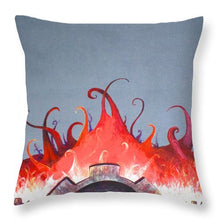 Mecha Uprising - Throw Pillow - Jenny Bagwill Art