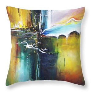 The Crossing - Throw Pillow - Jenny Bagwill Art