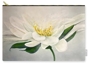 White Flower - Carry-All Pouch - Jenny Bagwill Art