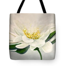 White Flower - Tote Bag - Jenny Bagwill Art