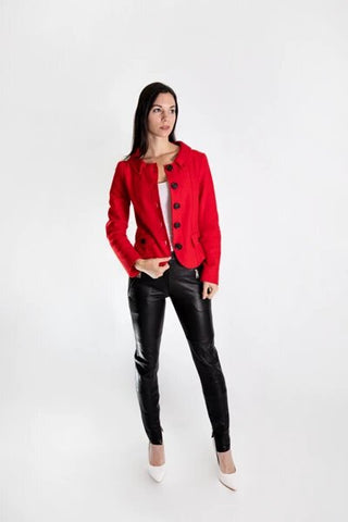 buy red cashmere jacket online
