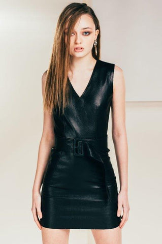 get mini leather dress in melbourne