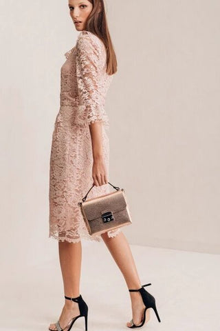purchase pale pink lace dress from zana la collection