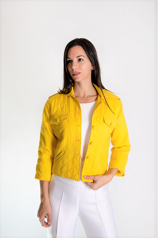 Yellow Cashmere Jacket