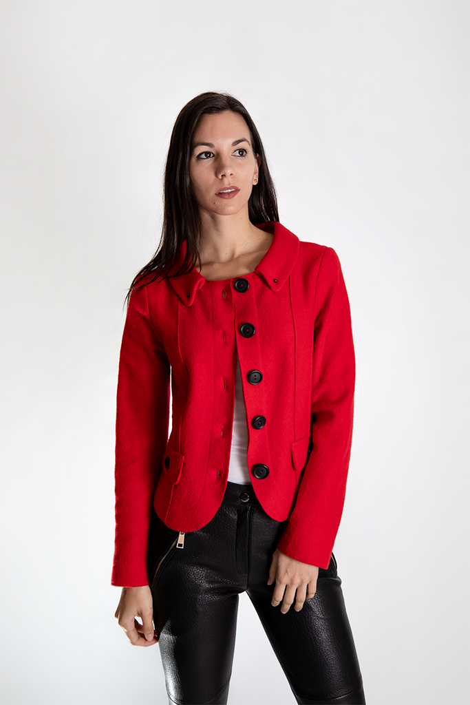 Red cashmere Jacket