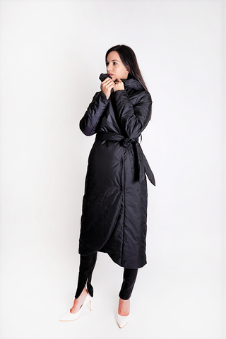 Long CONTRA Microfiber Coat - Irena Grahovac