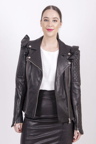 Quilted biker jacket - Mona Collection