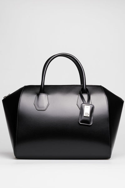 Black Patent Leather Tote