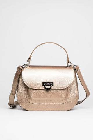 Gold Satchel Bag