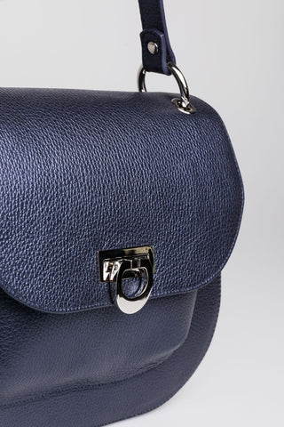 Navy Satchel Bag - Mona Collection