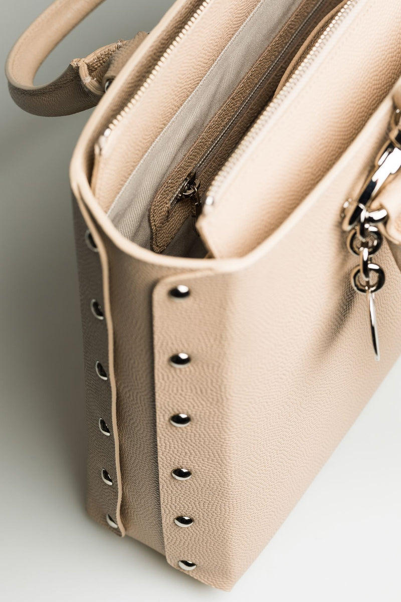 Cream Leather Bag - Mona