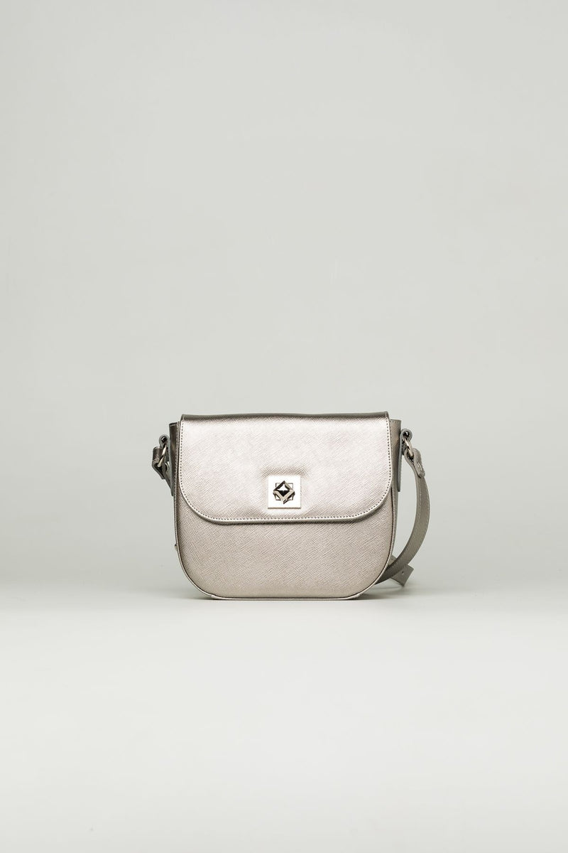 Metallic Silver Small Bag - Mona