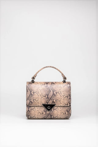 Tan Snakeskin Purse - Mona Collection