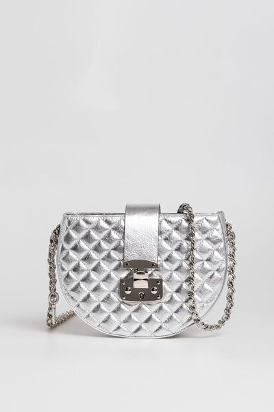 Metallic Silver Sling Bag