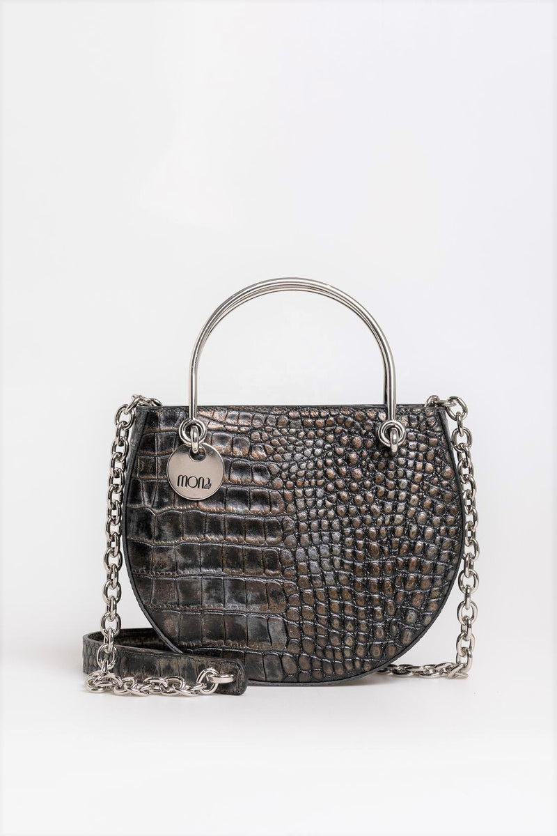 Chocolate Croc Sling Bag - Mona Collection