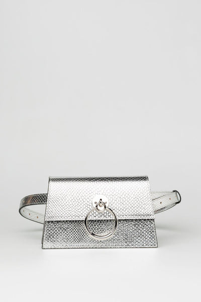 Chrome Silver Sling Bag - Mona Collection