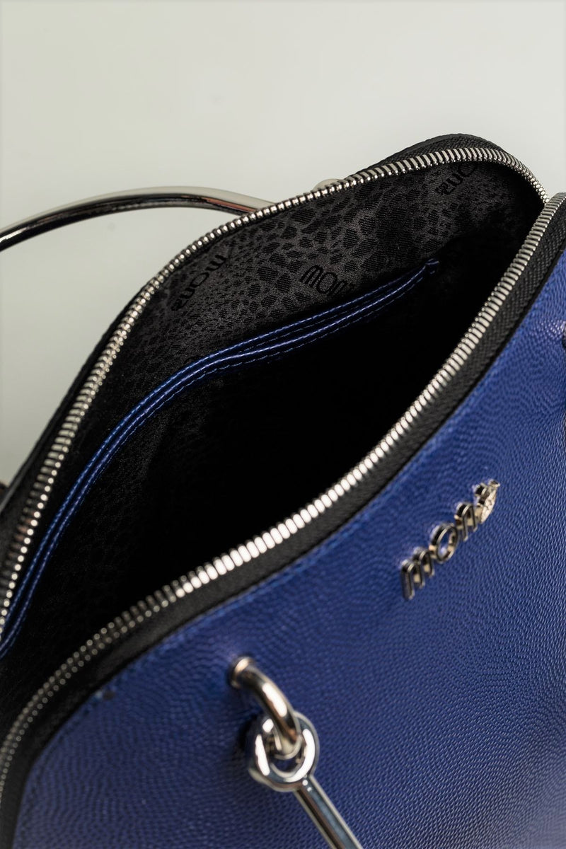 Royal Blue Bag with metal handles - Mona