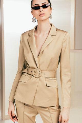 Beige Blazer - Mona Collection