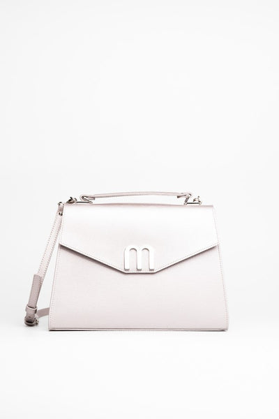 Silver Satchel Bag